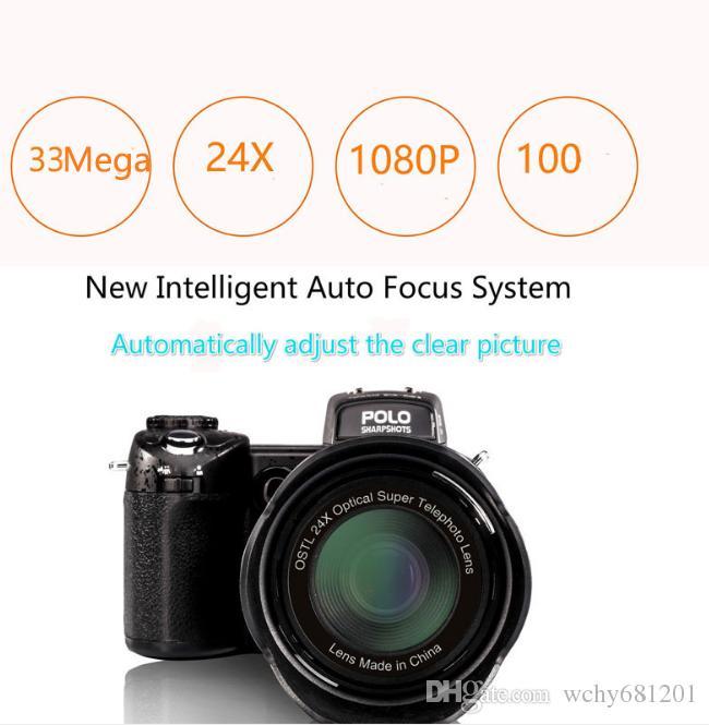 New POLO D7100 digital camera 33 Mega pixels FULL HD1080P 24X optical zoom Auto focus Professional Camcorder