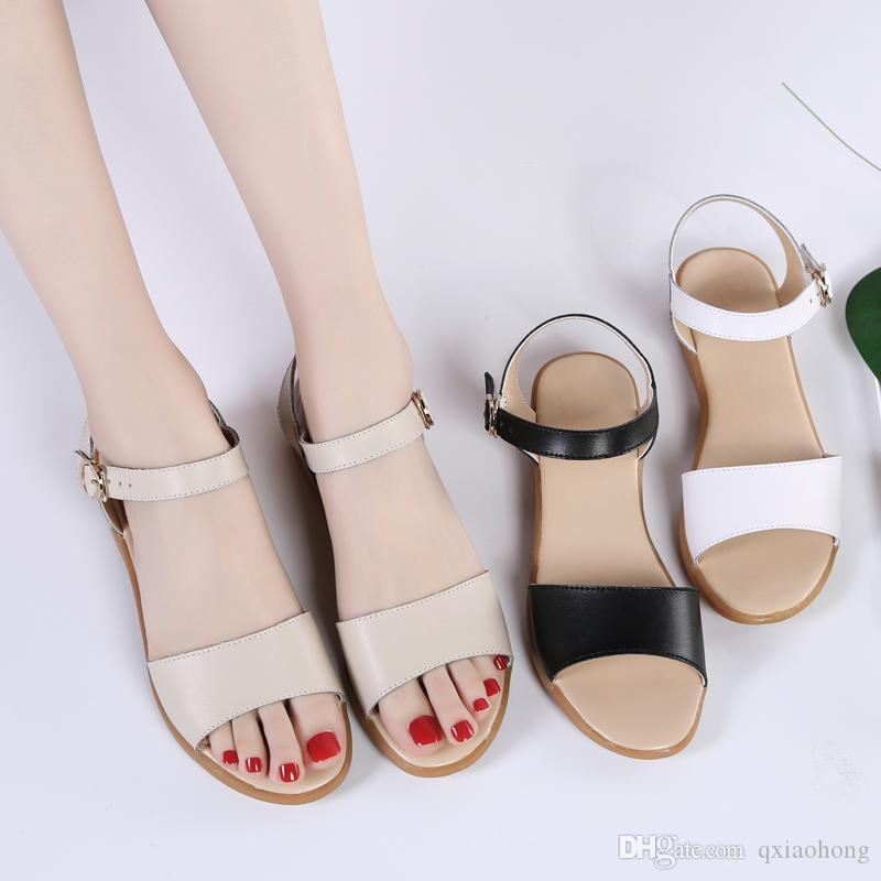 neueste Designer Sandalen Schwangere Frauen Schuhe rutschfeste Lauf Sandalen Komfortable weiche Unterseite der Mutter Schuhe Solide Sommer-Freizeitschuhe prägnant