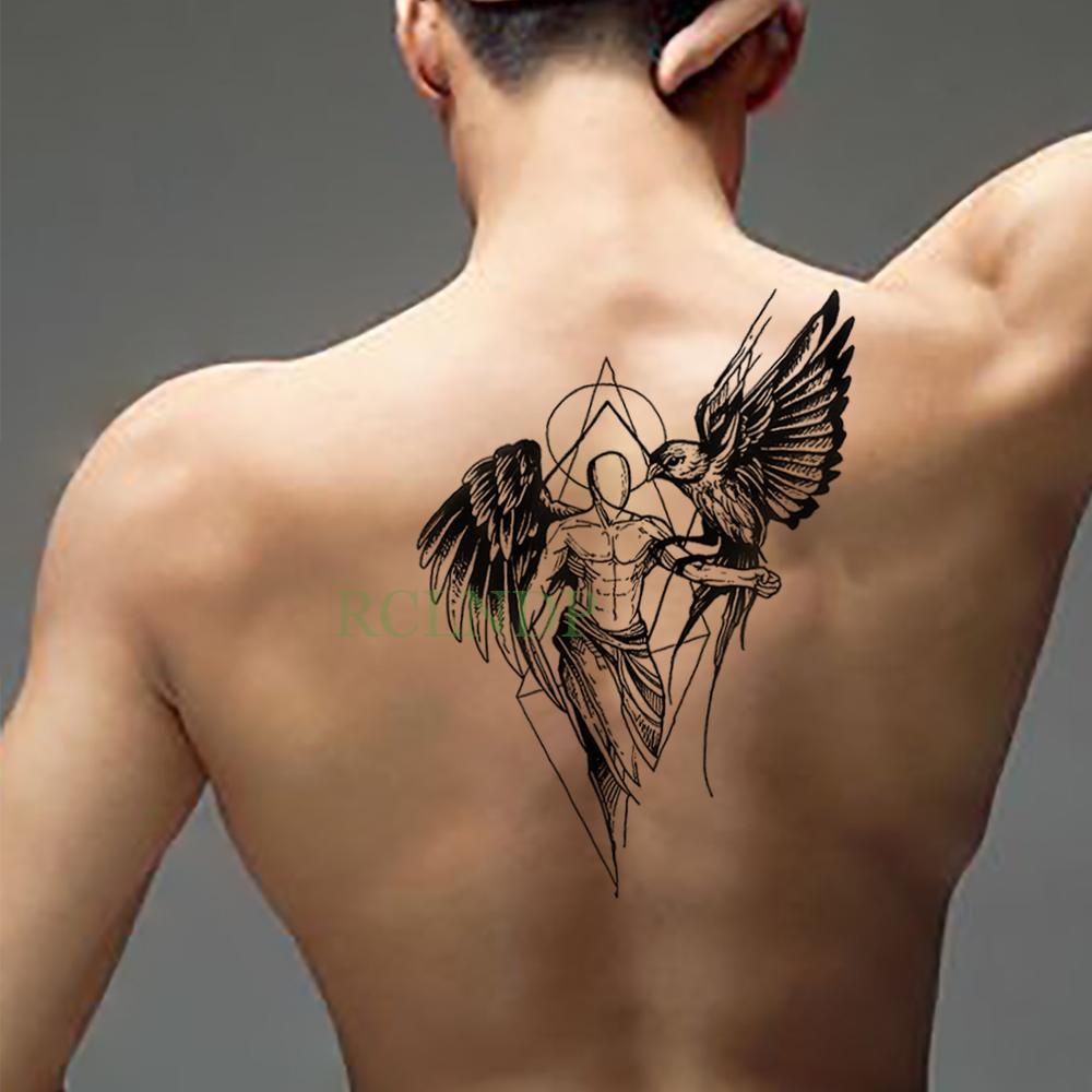 Aguila En La Espalda etiqueta engomada del tatuaje temporal a prueba de agua fresco Águila ala  hombre falso tatto flash tatoo espalda pierna abdomen brazo tatuaje para