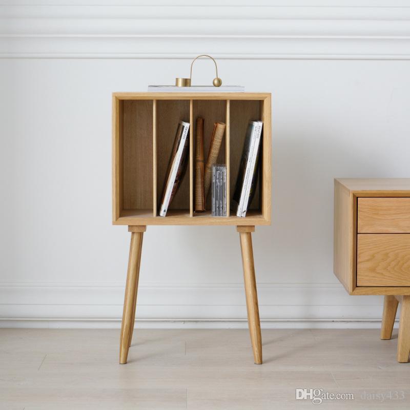 coffret magazine en bois massif nordique bibliothèque moderne de style japonais petite bibliothèque chambre amovible table de chevet