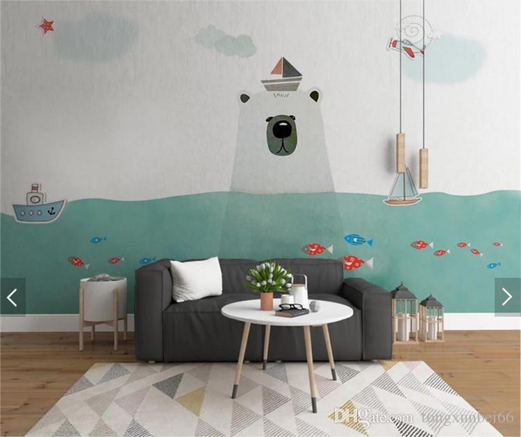 Kids Bedroom Home Wall Decor Wallpaper Mural Large Size Wall Paper Children  Room Custom Size Landscape Creative 3d Wallpaper Desktop Backgrounds ...