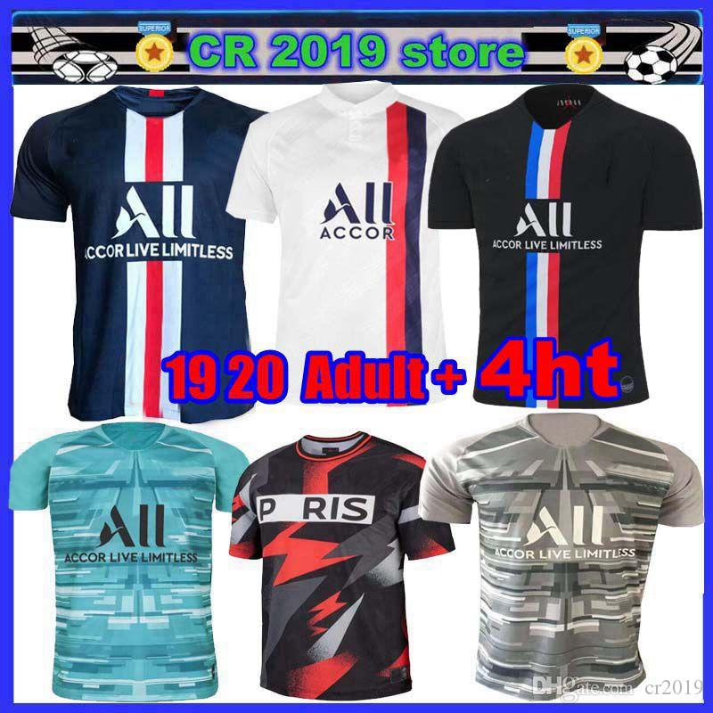 2020 New Psg 4ht Mens Clothing Set Soccer Jersey Maillot Psg Kids 2019 20football Kits 19 20 Maillot De Foot Psg Goalkeeper Blue Mbappe Jersey From Cr2019 13 2 Dhgate Com