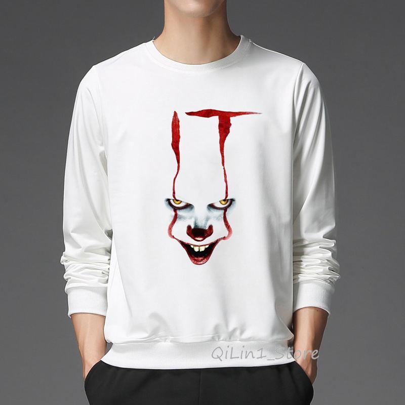 Winter 2019 IT movie stephen king hoodie men women clown pennywise hooded sweatshirt hight quality Custom hoody unisex pullover
