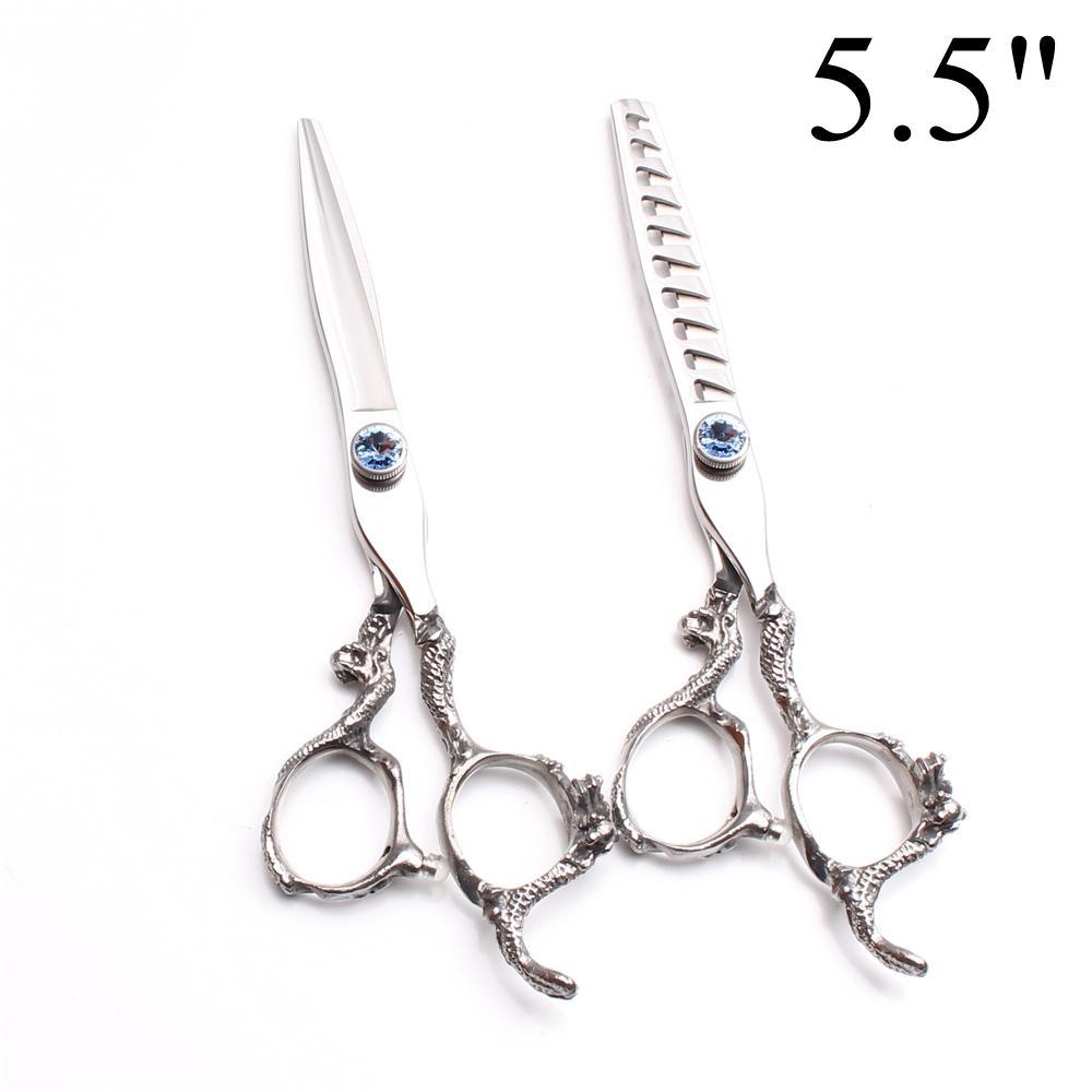 """C9006 5.5"""" JP 440C Özelleştirilmiş Kuaförlük Makas Saç kesimi Seti Kesme Makası Makas İnceltme Profesyonel Saç"""