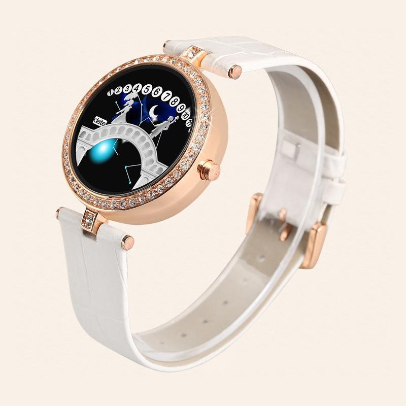 Guarda Moda Donna orologio elettronico in stile coreano Constellation Belt Lover Ponte LED Starry strass in stile coreano