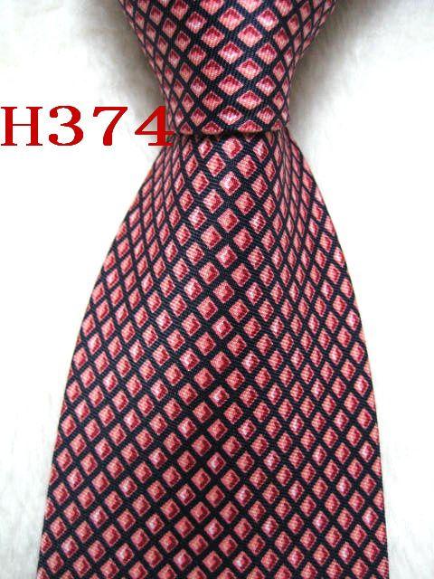 H374 # 100% Jacquard De Seda Artesanal Gravata Gravata Dos Homens