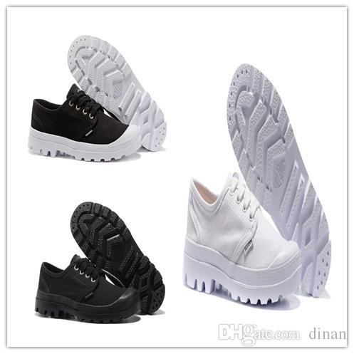 Günstige PALLADIUM Pampa Classic Komfortable Canvas Schuh weiß schwarz Herren Sneakers Fashion Damen Canvas Outdoor Freizeitschuhe Arbeit sneaker35-45