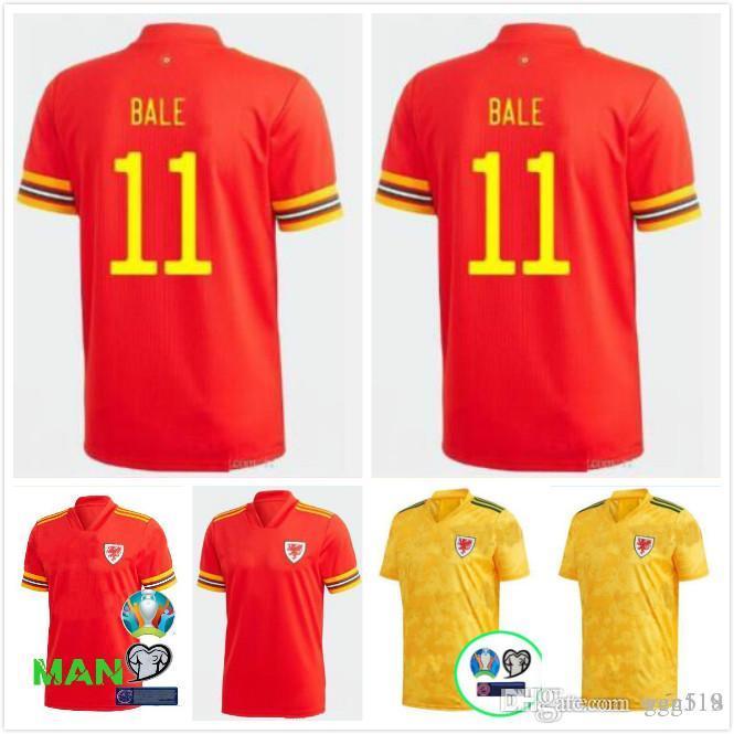 2020 2021 maillot de football du Pays de Galles 20 21 BALE ALLEN James Ben Davies Wilson chemisettes équipe nationale homme de loin à la maison + chemises d'enfants de football