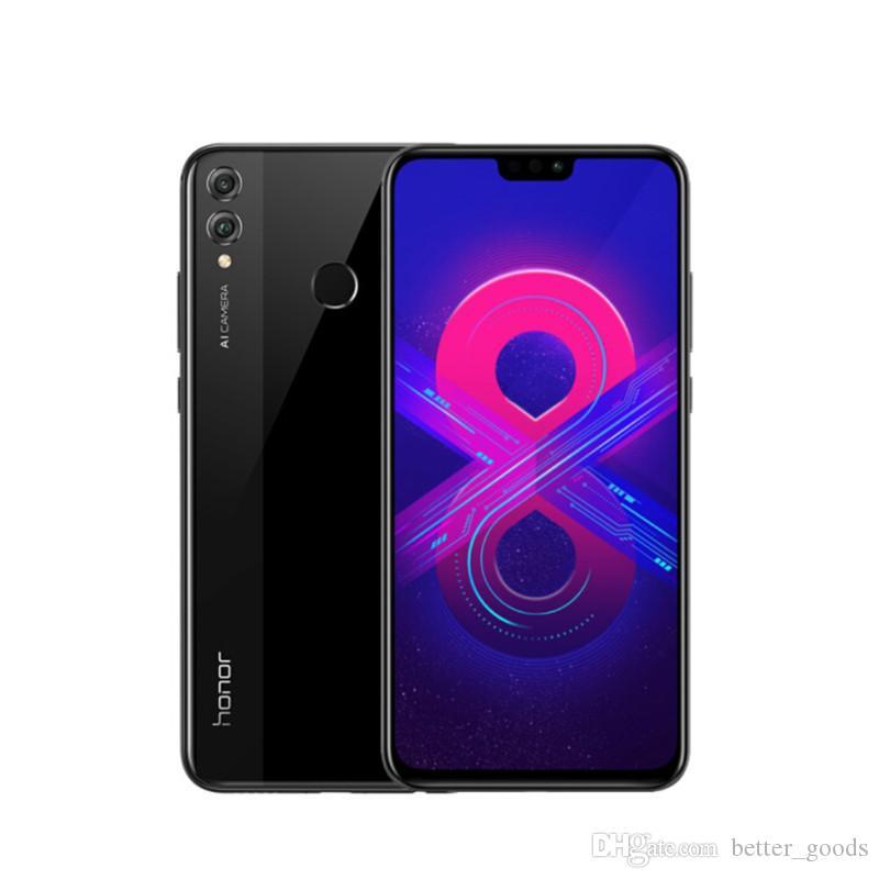 "Original Huawei Ehre 8X 4G LTE Mobiltelefon 6 GB RAM 128 GB ROM KIRIN 710 Octa Core Android 6.5 ""Full Screen 20.0mp AI Fingerprint ID FACE 3750MAH Smart Mobiltelefon"