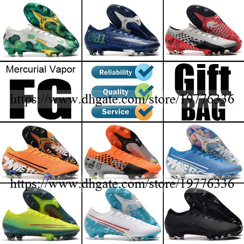 2020 Mercurial Vapors 13 XIII 12 XII Elite FG Soccer Football Shoes CR7 Cristiano Ronaldo Neymar Mbappe For Men Soccer Boots Football Cleats