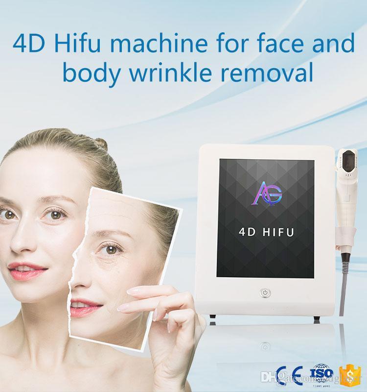 2020 Nueva 4d 3D HIFU 1- 12lines Equipo para lavado de cara y el cuerpo de adelgazamiento con 8 cartuchos