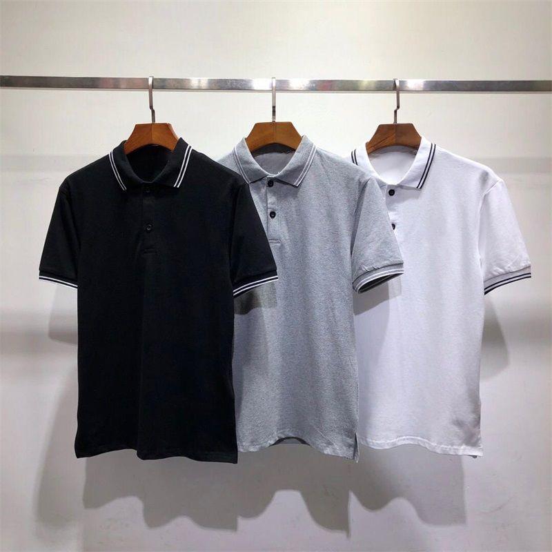 Mens Fashion Casual Polo camiseta Mistura de alta qualidade Mens Cotton Confortável manga curta Verão de alta qualidade Camiseta