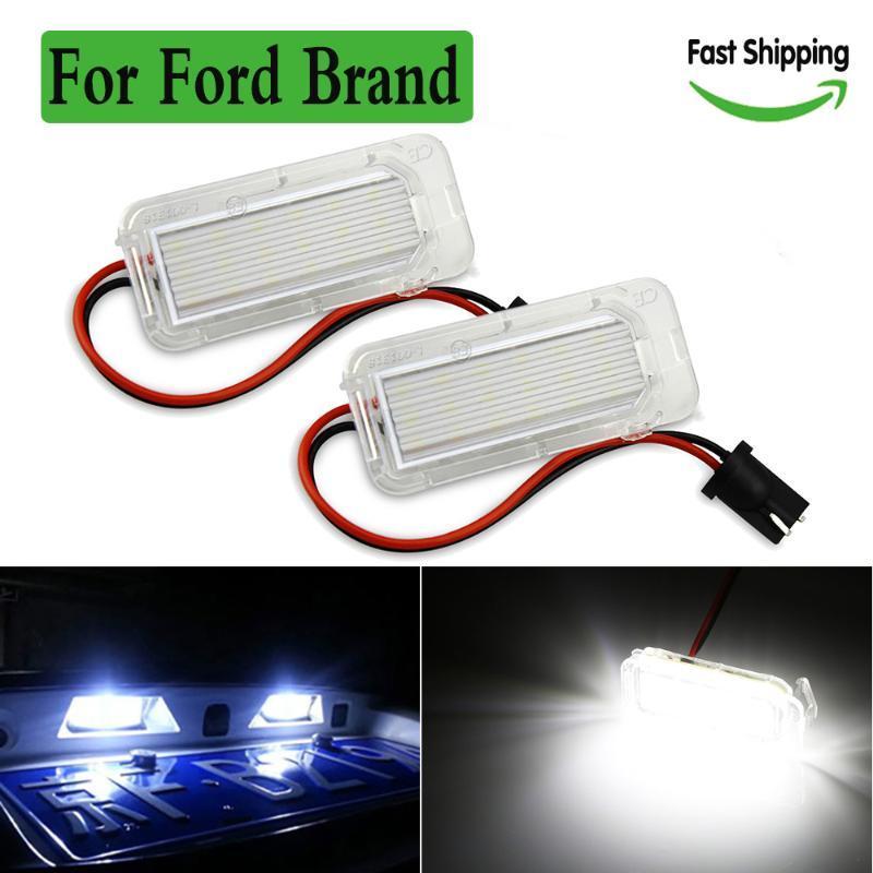 2 peças 12V LED License Plate lâmpada Luz para matrícula luzes do carro do caminhão de iluminação para a Focus 5D Fiesta Mondeo 4 C-Max
