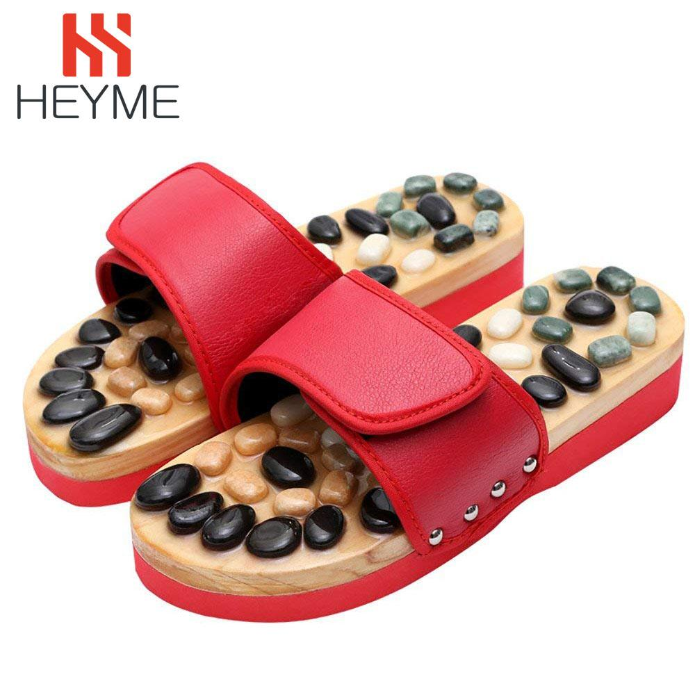 wholesale Pebble Stone Foot Massage Slippers Reflexology Feet Elderly Acupuncture Health Shoes Sandals Slippers Healthy Massager A