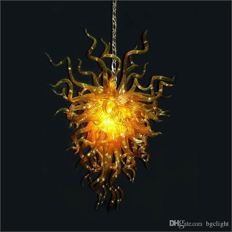Ceiling Decorative New Style Hand Blown Glass Chandeliers Lightings Customized Colored for Foyer Decor Blown Glass Chain Pendant Lamps