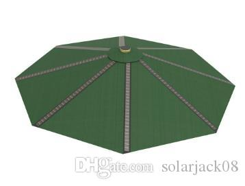 터미널 충전으로 야간 조명 태양 코트 야드 우산 캔틸레버