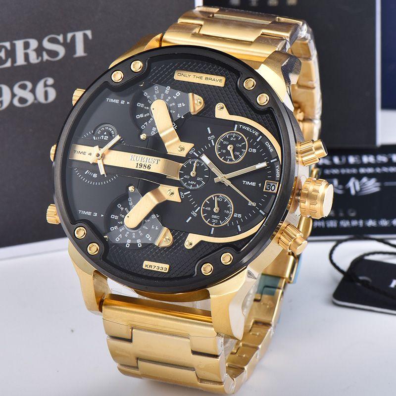 Oraria multipla Mens analogico al quarzo 2019 maschio della vigilanza dell'uomo Orologi di marca superiore di lusso casuale orologio da polso relogio masculino