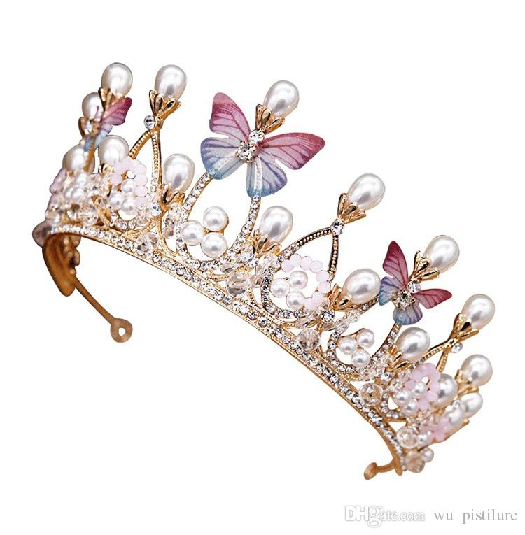 Fashion Baby Kids Infant Toddler Girl Princess Crown Pearl Headband Hair Band