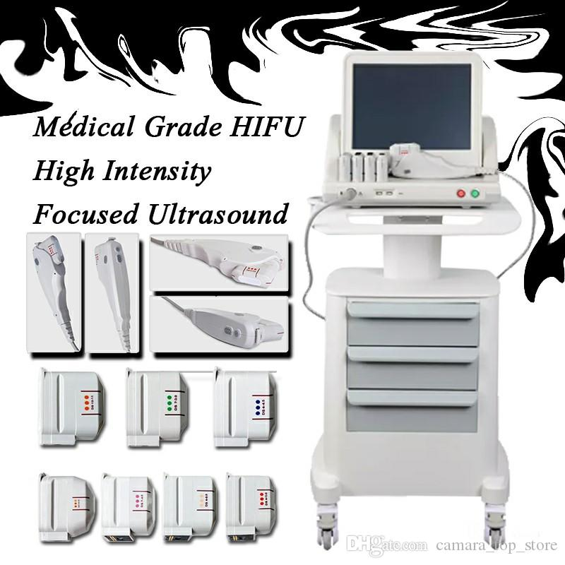 2019 Medical Grade HIFU High Intensity Focused Ultrasound Hifu Face Lift Machine Wrinkle Removal With 5 Heads For Face And Body CE