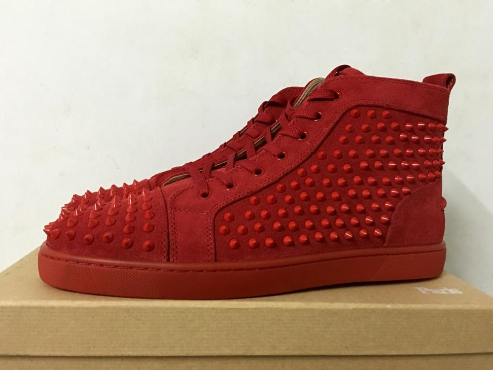 Mens Designer Shoes Men Red Suede High Top Studded Spikes Casual Flats Luxury Red Bottoms Trainers Women Platforms Sneakers Cheap For Girls Women Shoes Mens Sandals From Topbagsandshoes01 107 94 Dhgate Com,Fashion Designer Business Card Sample