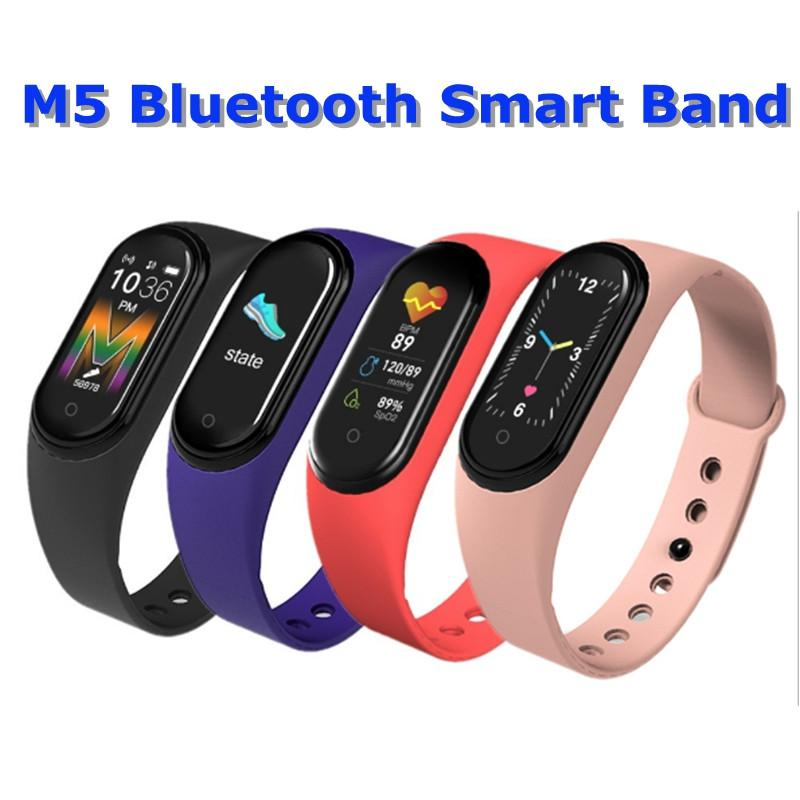 M5 Colorful Screen Smart Band Fitness Tracker Watch Sport bracelet Heart Rate Blood Pressure Smartband Monitor Health Wristband Free DHL