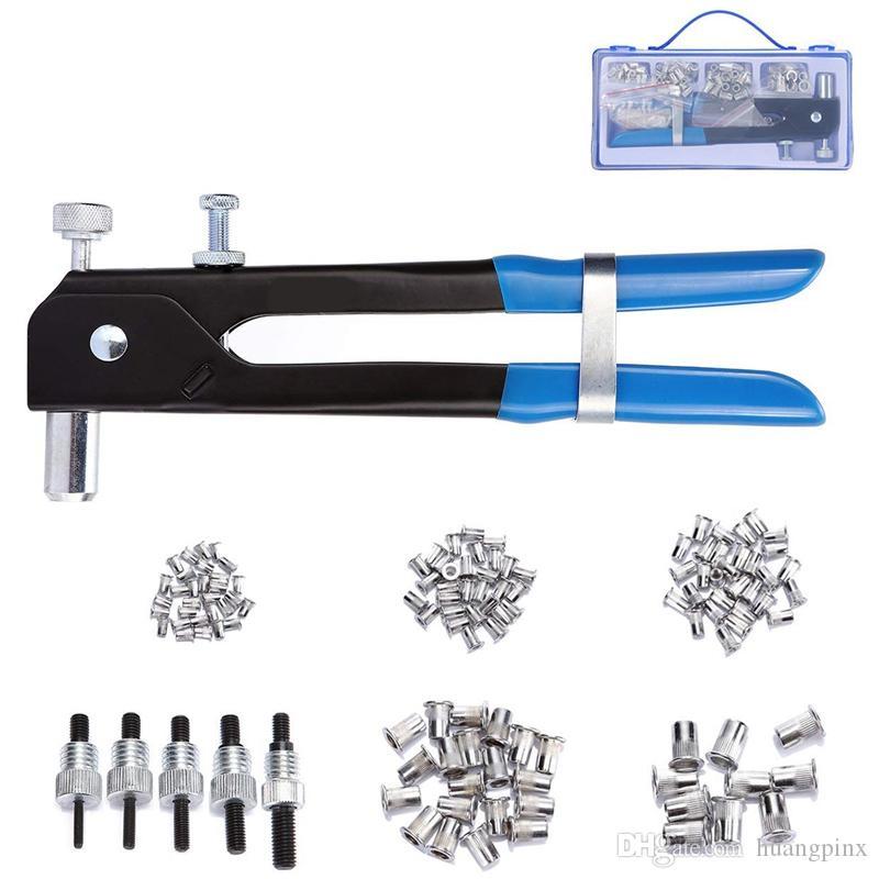 Pinzas para tuercas de remache inserto roscado de tuercas de remache ciego M3-M8 y kit de remachado de tuerca de remache RiveTo GunTool