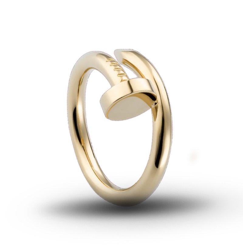 la manera de cobre par de uñas anillo de la joyería del diseñador ocasional creativa hip hop regalo de cumpleaños de los hombres del anillo de compromiso