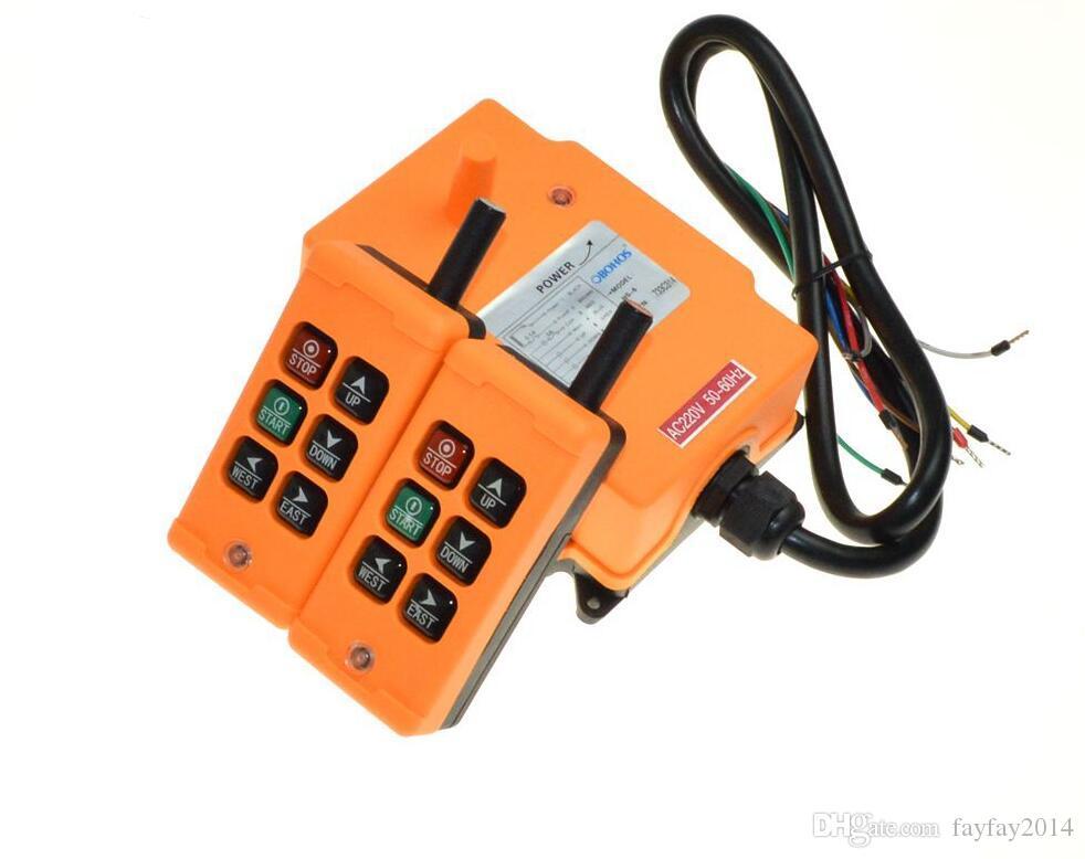 Бесплатная доставка 220VAC /380V / 110V/12V/24V 6 каналов 2 передатчика 1 Скорость управления подъемный кран Радио пульт дистанционного управления