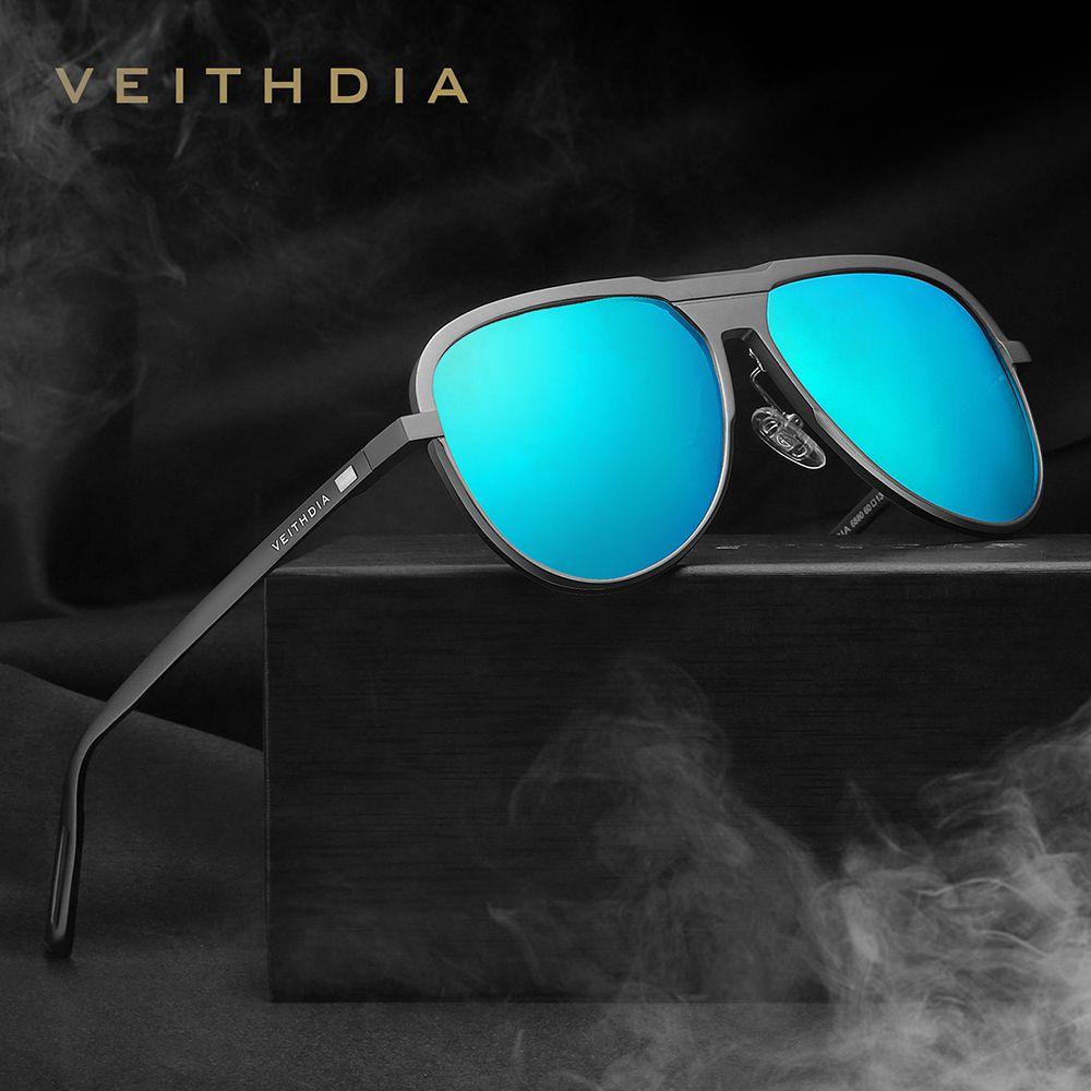 Veithdia Marca Mens Alumínio E Magnésio Óculos De Sol Polarizada Uv400 Lente Óculos Acessórios Masculinos Óculos De Sol Para Homens / mulheres V6880SH190721