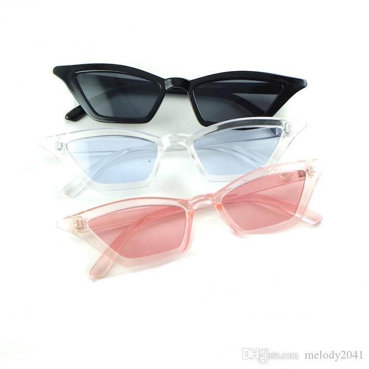 Pequeno triângulo moda moda óculos de sol gato mulheres óculos ângulo apontam quadro metal dobradiça de boa qualidade Óculos