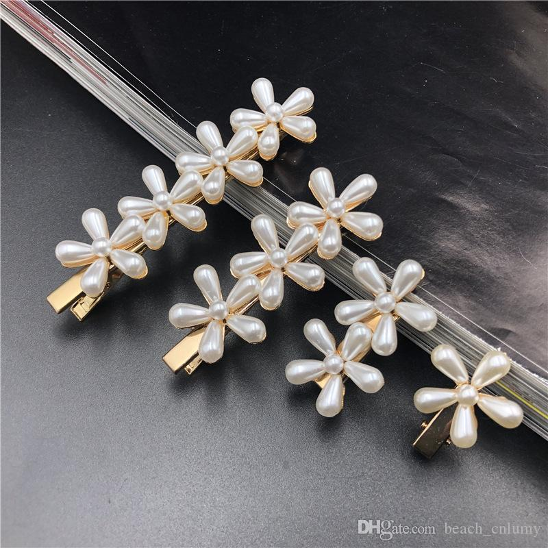 4Pcs/Set Women Hairpins Hair Clips Pearl Bobby Pins Side Bangs Clips Barrettes Headwear For Girls Hair Tool Fashion Accessories Jewelry Gift