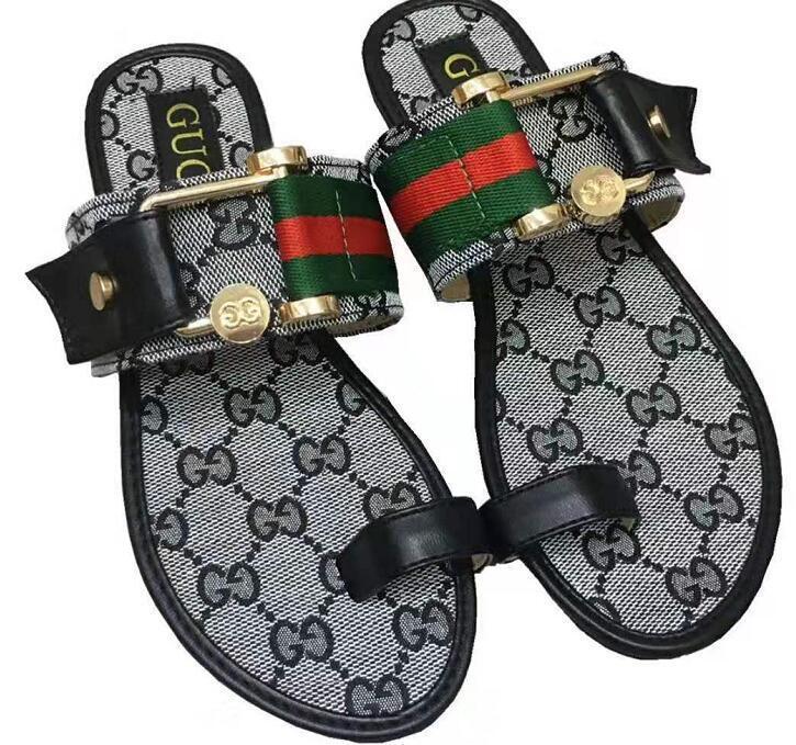 Leather Thong Sandal HBD\u0026#13;GUCCI