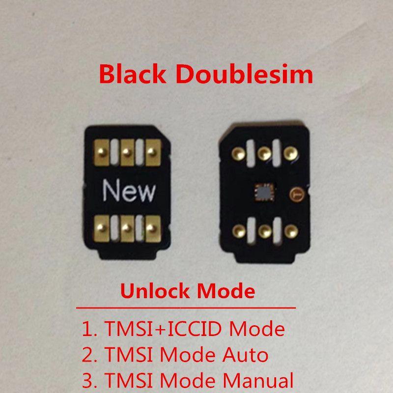 Card de desbloqueio gratuito DHL New duplo-sim para iOS 13.x para US / T-Mobile, Sprint, Fido, DoCoMo outras operadoras Turbo SIM