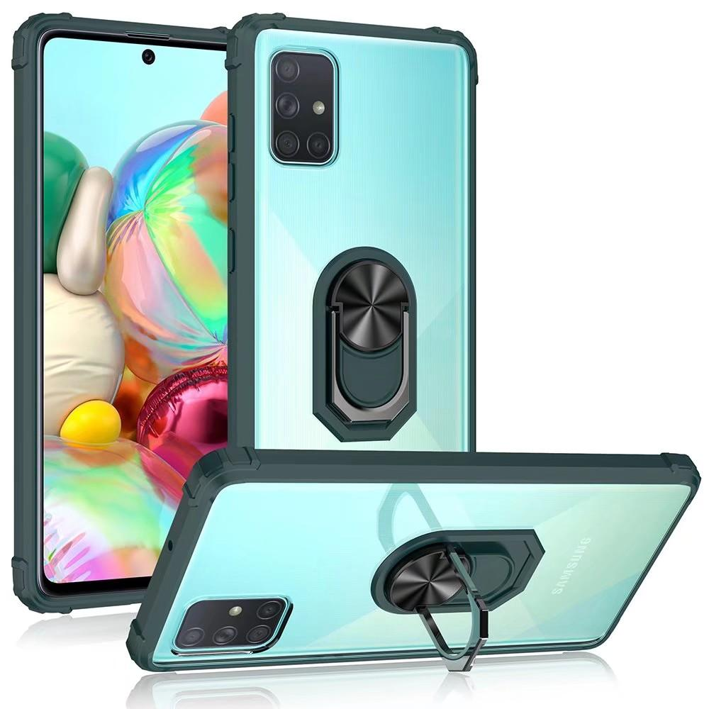 Shockproof Phone Case For Samsung Galaxy Note 10Lite S10 Lite A71 A51 5G A41 A31 A21 A21S A11 A01 Magnetic Ring Holder Cover