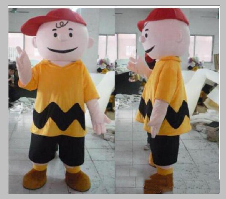 2019 vente usine Charlie Brown costume de mascotte Cartoon garçon Vêtements caractère mascotte Halloween Party de Noël Déguisements