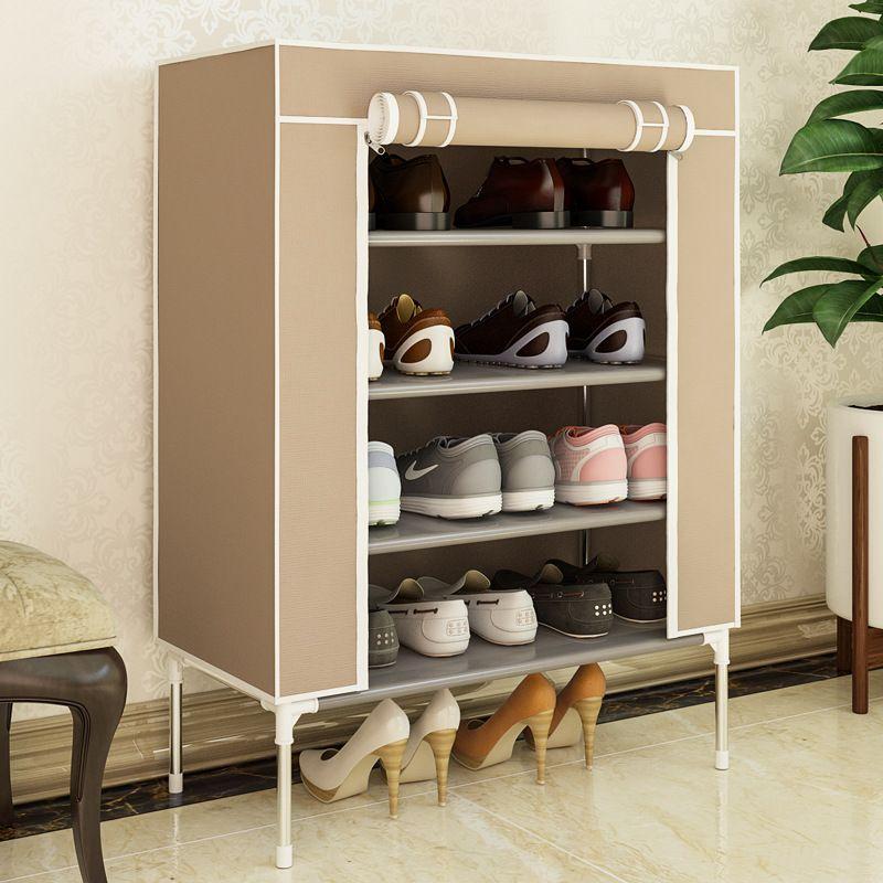 Dustproof Shoe Cabinets Shoes Rack Stand Shelf Shoes Organizer Living Room Bedroom Waterproof Storage Furniture