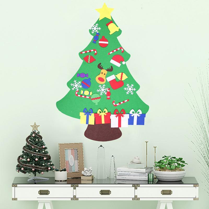 Ev Yard için Kapı Duvar Asma dekorları Çocuk Çocuk Hediyeleri Yılbaşı Noel Dekorasyon Noel ağacı Keçe DIY Stereo