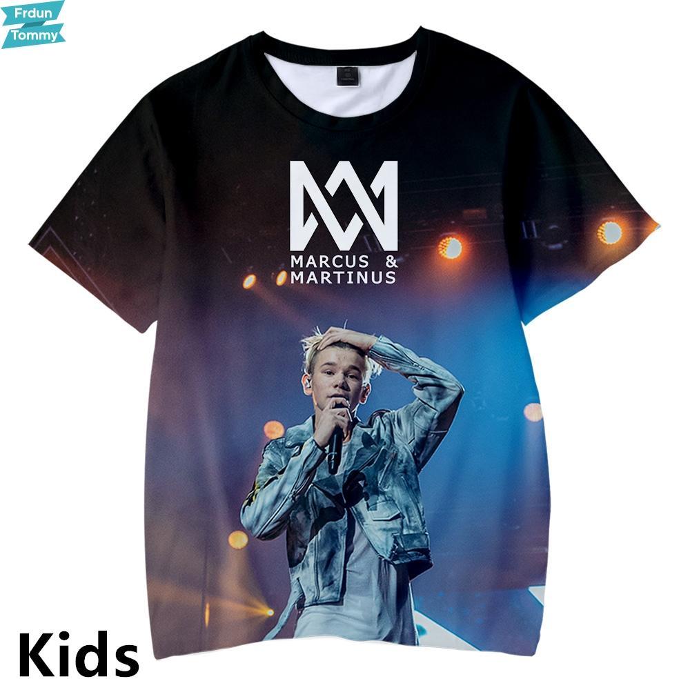 MARCUSMARTINUS 3D Impreso Niños Kpop Camisetas Moda Verano Manga Corta Camisetas Venta Caliente Casual Streetwear Niños Camisetas