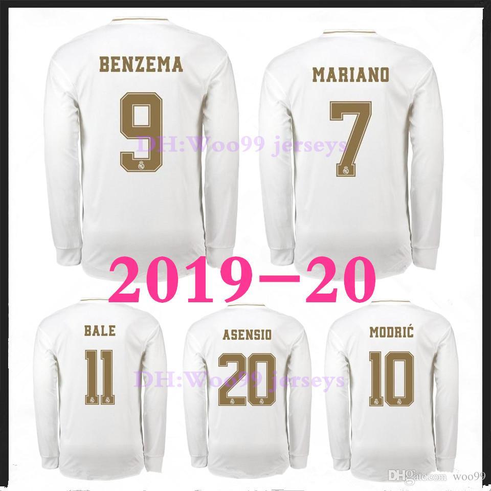 2019 20 레알 마드리드 축구 유니폼 2019 2020 HAZARD 홈 KROOS ISCO Modric Football uniform 성인 남성 골키퍼 축구 셔츠 긴팔