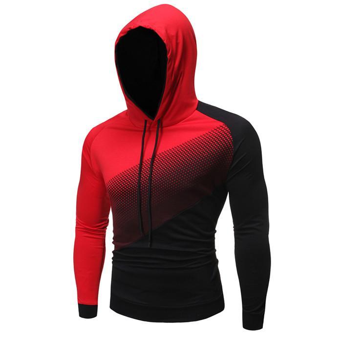 Verursachende Männer Langarm Hoodies Mode-Kontrast-Farben-Patchwork-Männer nehmen Sweatshirts Frühling Herbst Mann Skateboard Männer Kleidung