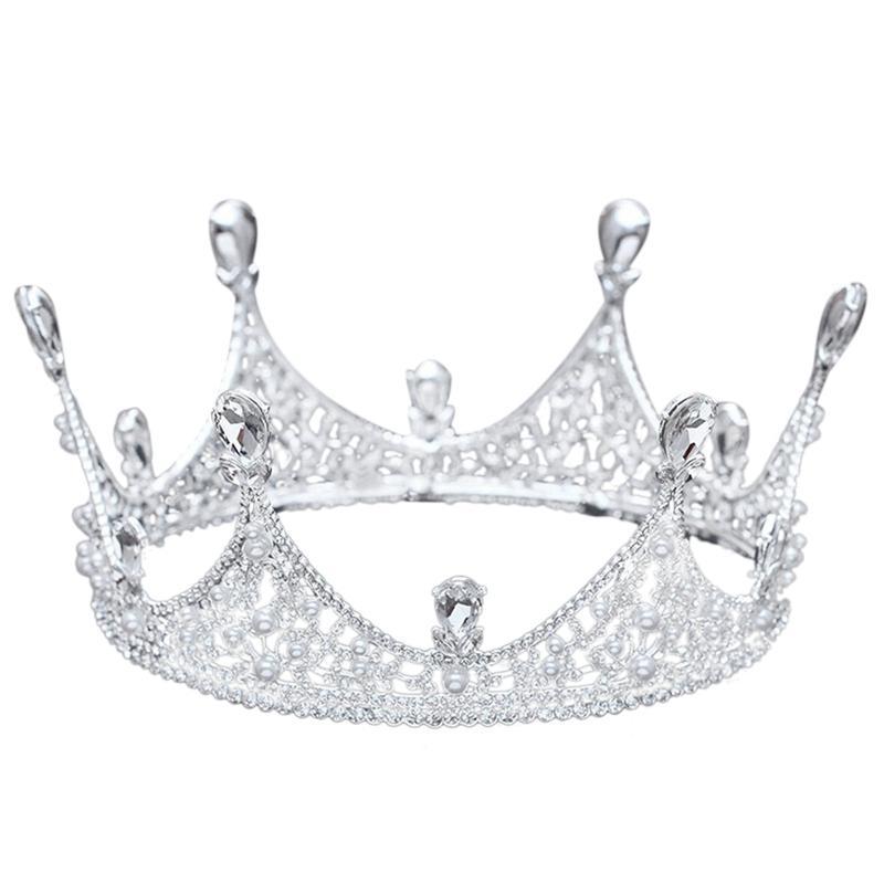 Re completa rotonda diadema della parte superiore di cristallo della festa nuziale della sposa spettacolo di promenade