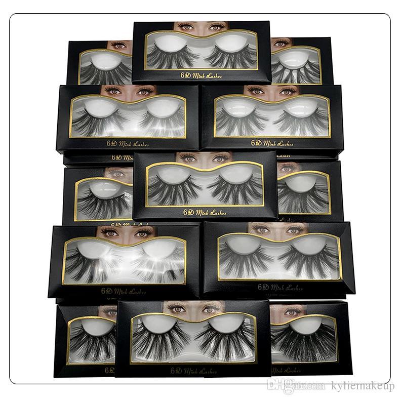 Yeni Marka HUAPAN 6D Vizon Kirpikler Kirpik Göz Kirpik Uzatma Seksi Kirpik Tam Şerit Göz Lashes