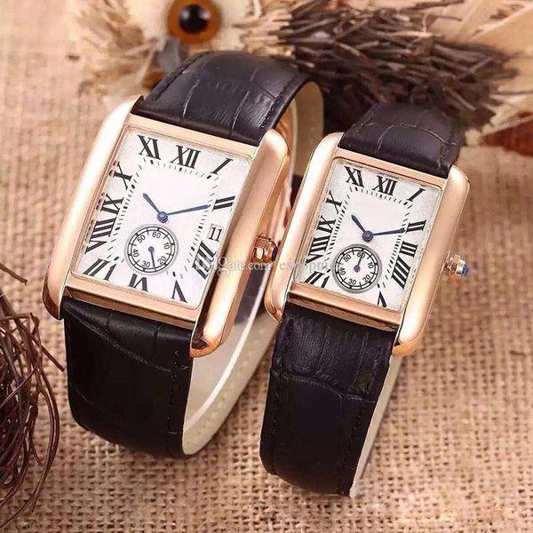 Casal de alta qualidade amantes da moda relógios casuais homens vestido da senhora assistir Números Roma quartzo Relógios de pulso para mulheres dos homens do presente do Valentim melhor