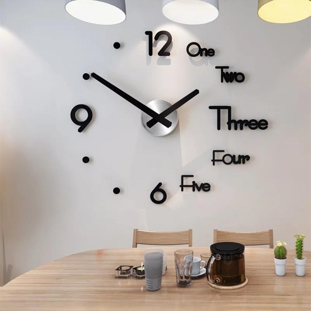 Ücretsiz Kargo Yeni Saat İzle Duvar Saatleri Modern Diy Akrilik Ayna Çıkartma Ev Dekorasyon Salon Kuvars İğne 3d