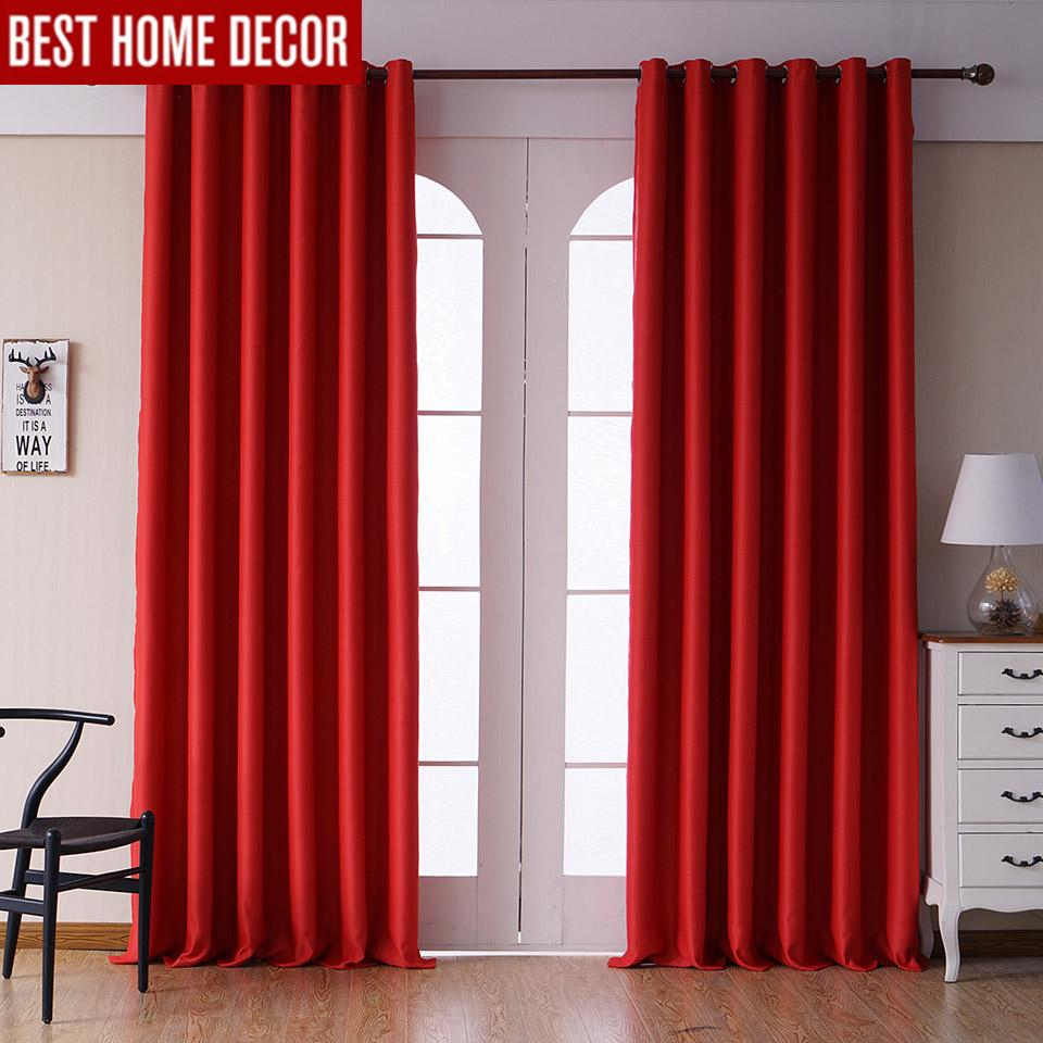 2020 Modern Blackout Curtains For Living Room Bedroom Curtains For Window Treatment Drapes Red Finished Blackout Curtains 1 From Qygw Home 35 88 Dhgate Com