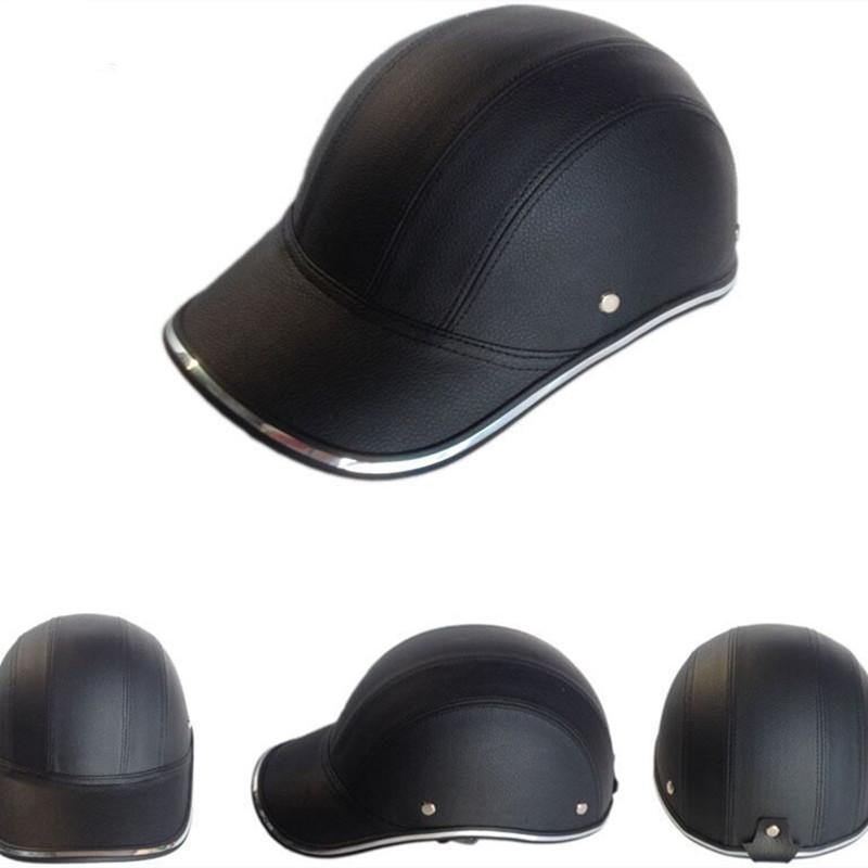 Half Helmet Baseball Cap Style Safety Hard Hat Open Face For Motorcycle Bike