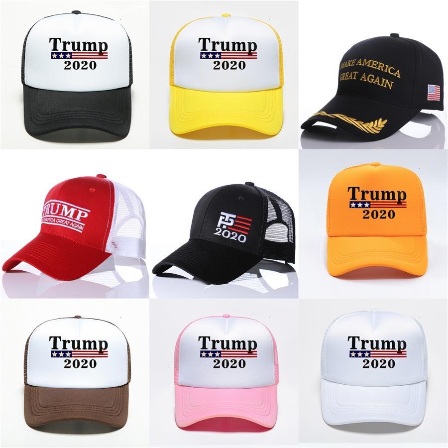 Donald Trump 2020 Chapeaux Camouflage broderie 3D Sport Baseball Cap Président Trump Election Cap balle Caps Zza2128 # 840