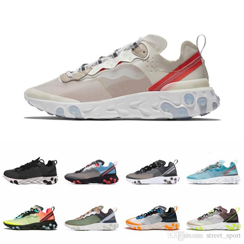 React Element 87 Undercover Running Shoes Women Mens Designer Volt Royal Tint Total Orange Blue Chill Trainer 87s Sail Scarpe Sports Sneaker