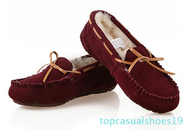 Caldo di vendita di vendita-caldo superiore di design New Classic in Australia Usa scarpe a basso caldo inverno stivali di cuoio reale di Bowknot scarpe stivali neve per il tempo libero delle donne T19