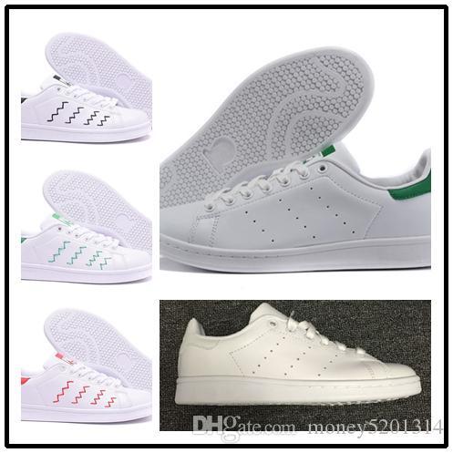 Avec la boîte 2019 chaussures mode stan smith Marque Top mens qualité FEMMES espadrilles de sport en cuir chaussures casual chaussures taille 36-45 eur